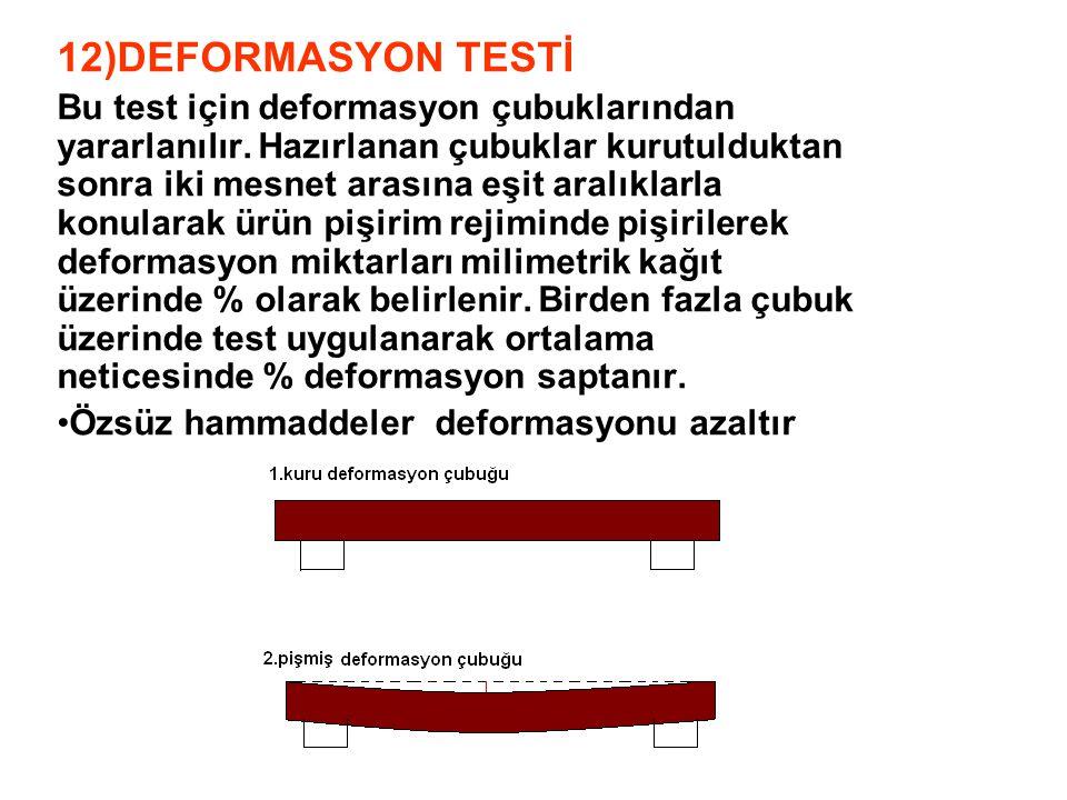 12)DEFORMASYON TESTİ