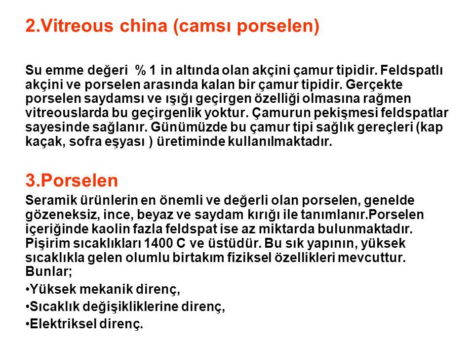 2.Vitreous china (camsı porselen)