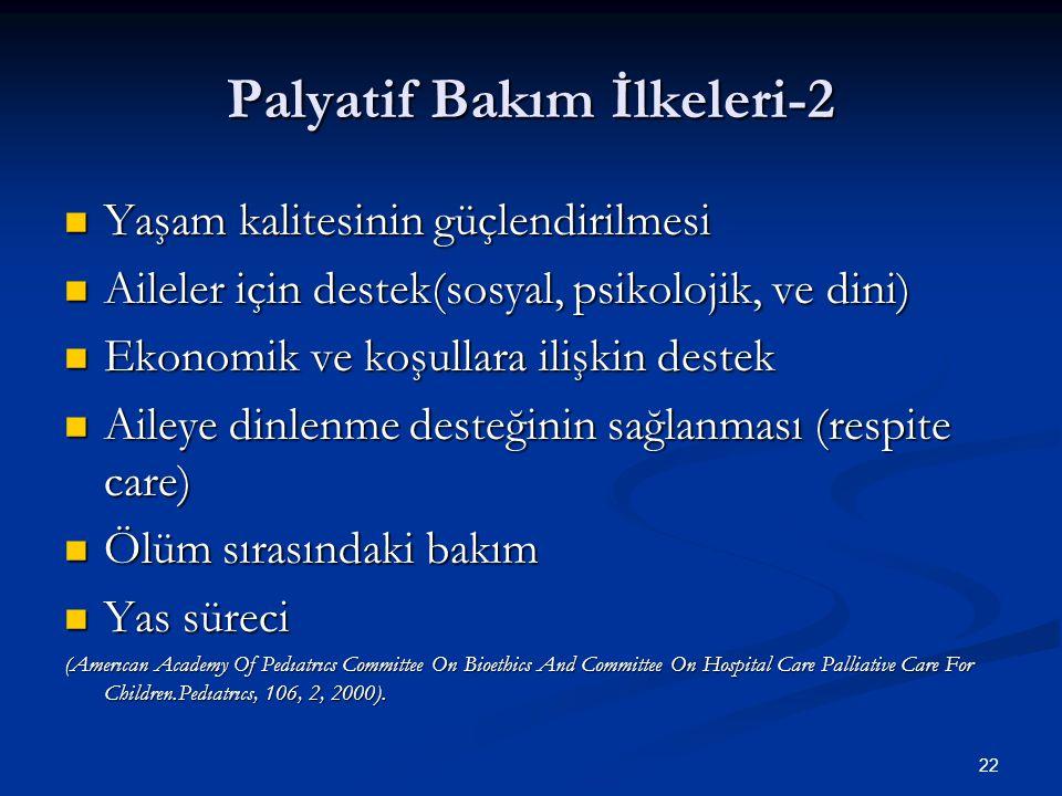 Palyatif Bakım İlkeleri-2