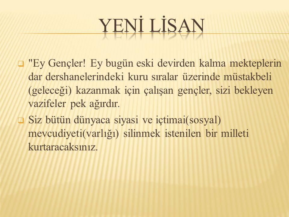 YENİ LİSAN