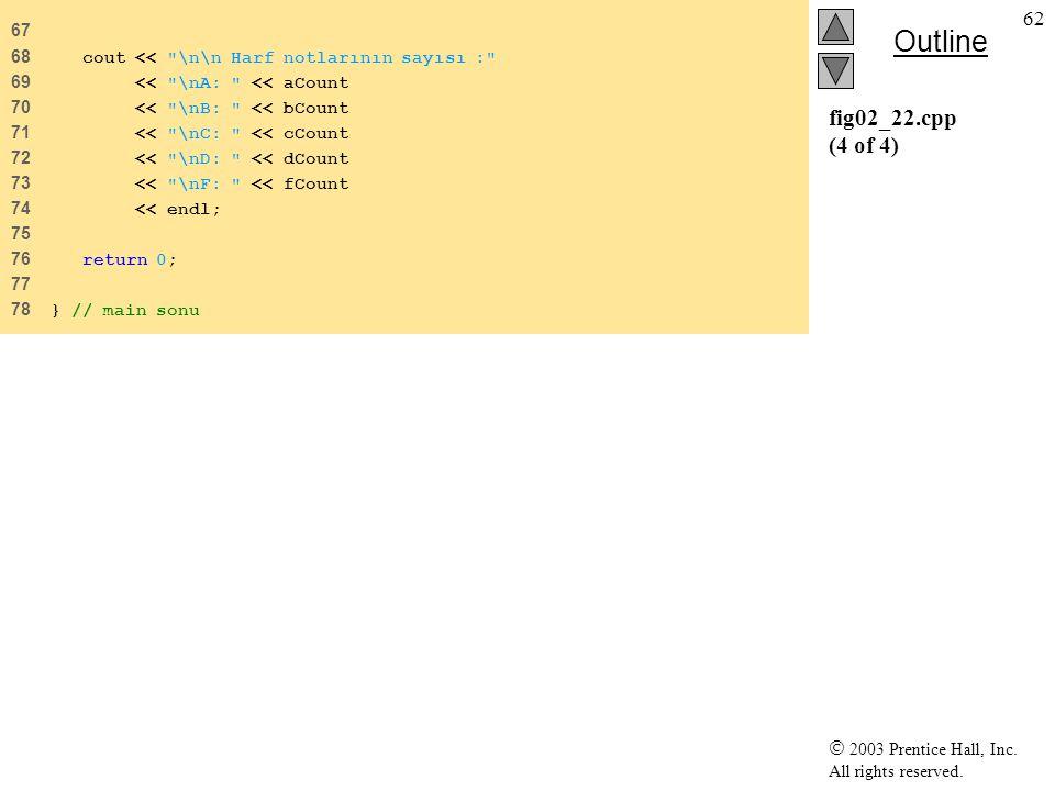 67 68 cout << \n\n Harf notlarının sayısı : 69 << \nA: << aCount. 70 << \nB: << bCount.