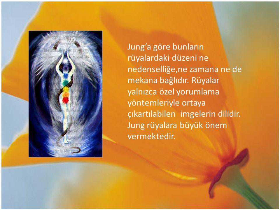Jung'a göre bunların rüyalardaki düzeni ne nedenselliğe,ne zamana ne de mekana bağlıdır.