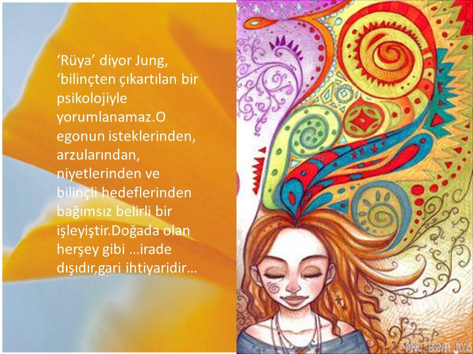 'Rüya' diyor Jung, 'bilinçten çıkartılan bir psikolojiyle yorumlanamaz