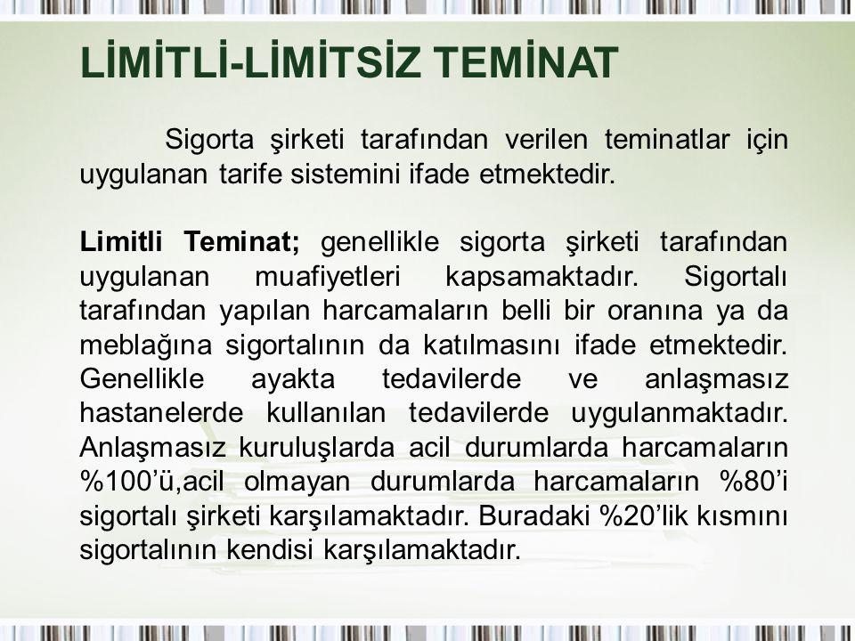 LİMİTLİ-LİMİTSİZ TEMİNAT