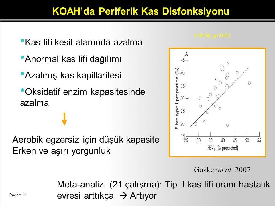 KOAH'da Periferik Kas Disfonksiyonu