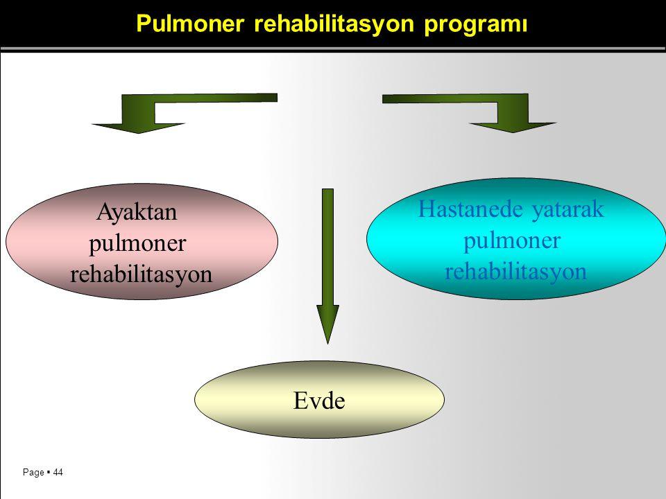 Pulmoner rehabilitasyon programı