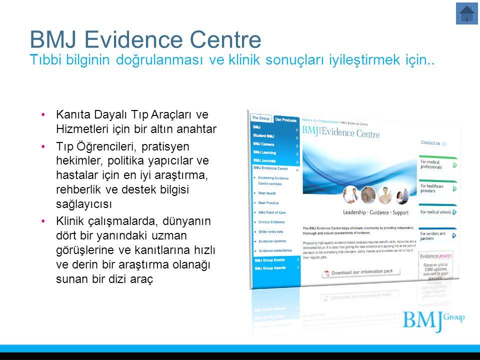BMJ Evidence Centre Tıbbi bilginin doğrulanması ve klinik sonuçları iyileştirmek için..