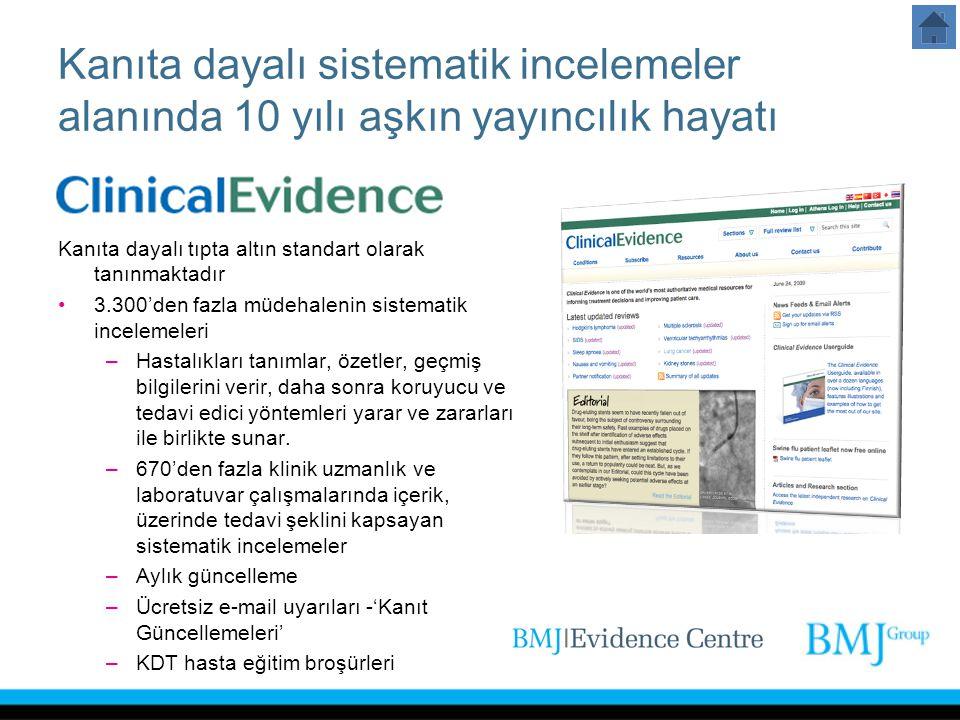Kanıta dayalı sistematik incelemeler alanında 10 yılı aşkın yayıncılık hayatı