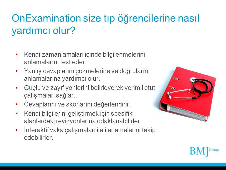 OnExamination size tıp öğrencilerine nasıl yardımcı olur