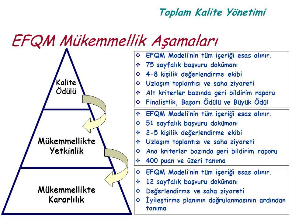 EFQM Mükemmellik Aşamaları