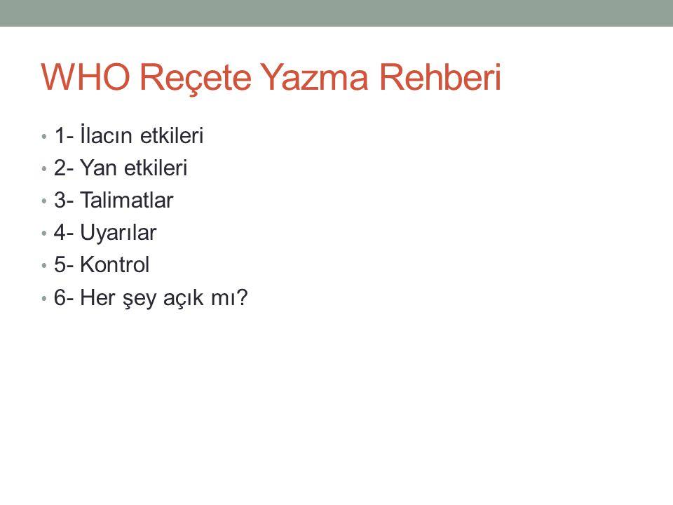 WHO Reçete Yazma Rehberi