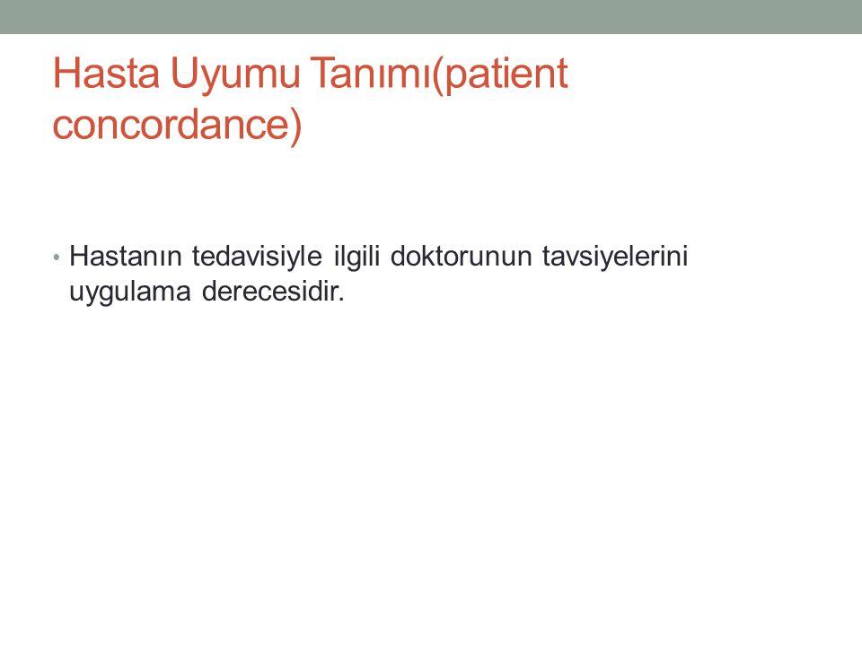Hasta Uyumu Tanımı(patient concordance)