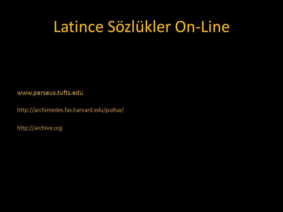 Latince Sözlükler On-Line