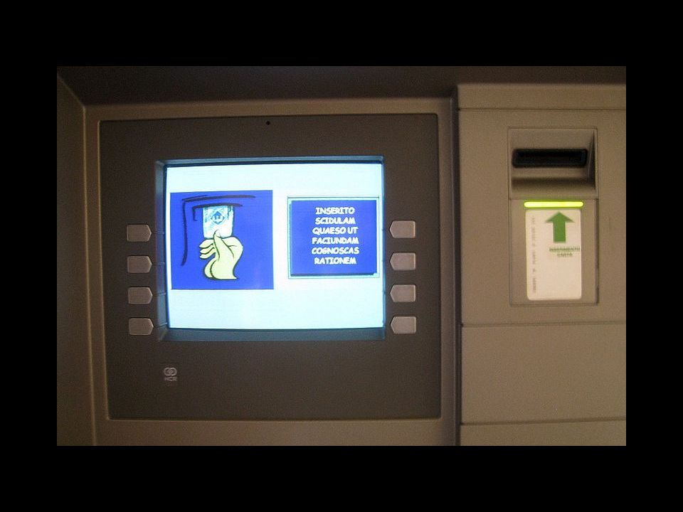 Latince Bir ATM: Vatikan, 2008.