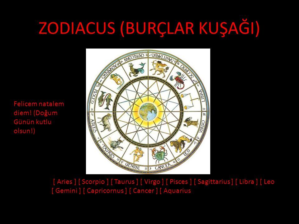 ZODIACUS (BURÇLAR KUŞAĞI)