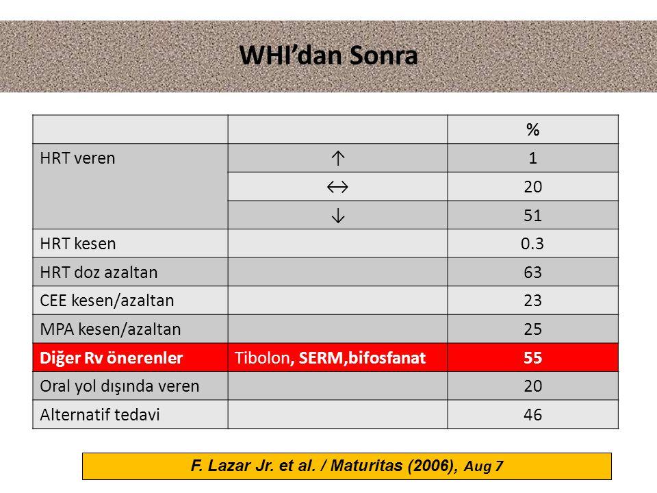 F. Lazar Jr. et al. / Maturitas (2006), Aug 7