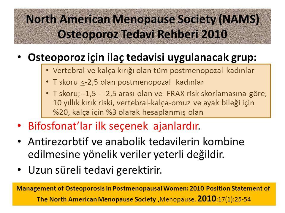 North American Menopause Society (NAMS) Osteoporoz Tedavi Rehberi 2010