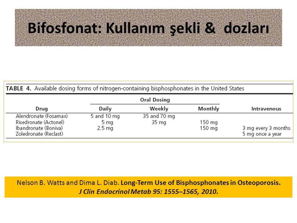 Bifosfonat: Kullanım şekli & dozları