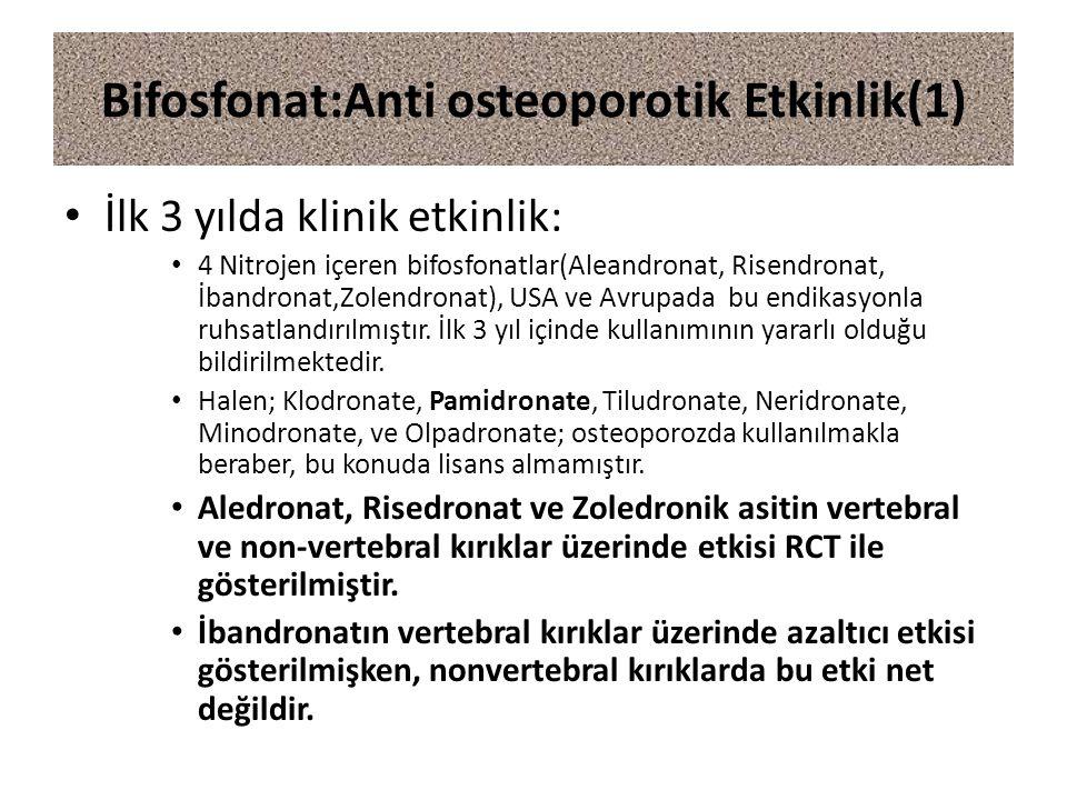 Bifosfonat:Anti osteoporotik Etkinlik(1)