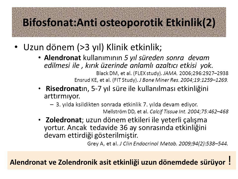 Bifosfonat:Anti osteoporotik Etkinlik(2)