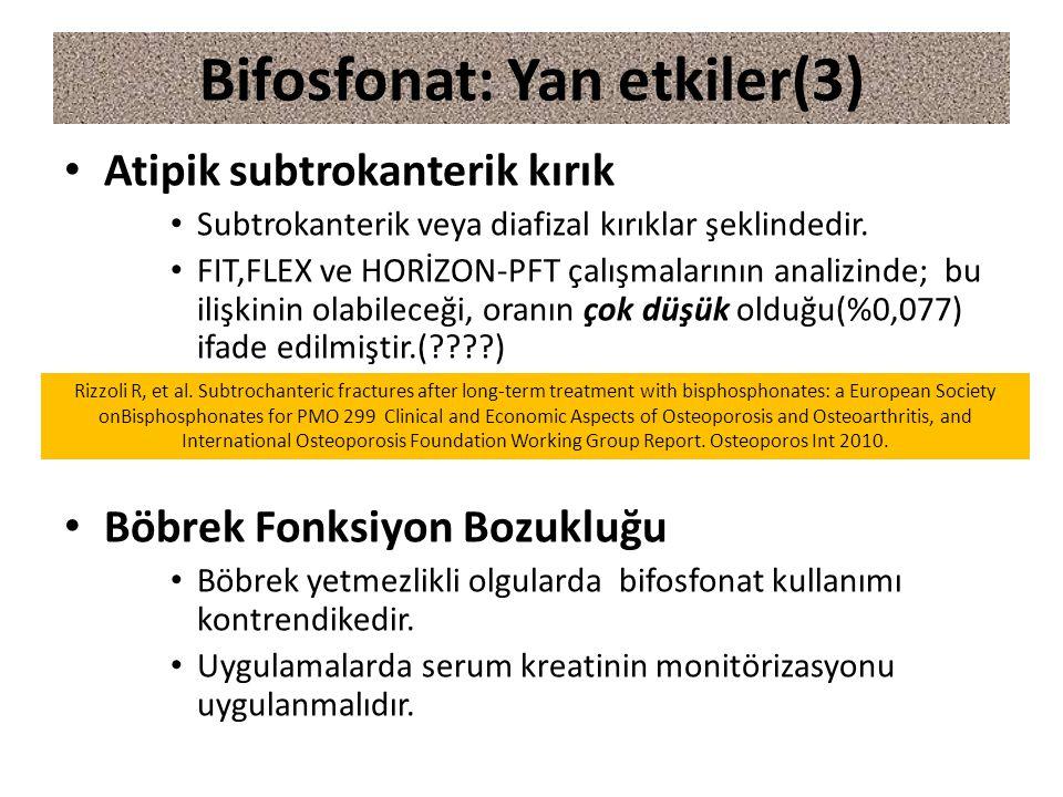 Bifosfonat: Yan etkiler(3)