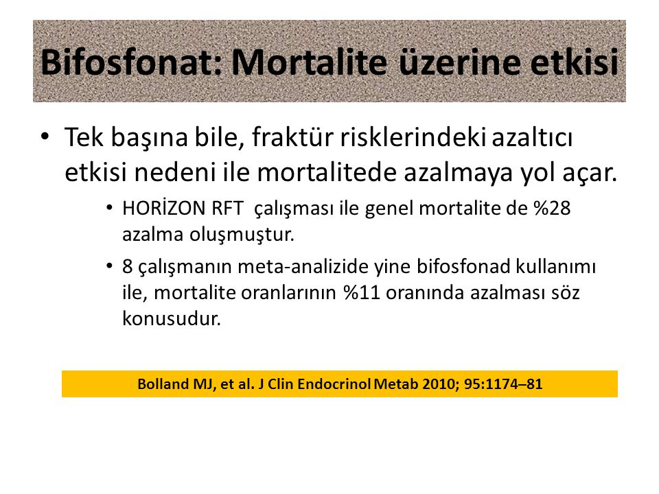Bifosfonat: Mortalite üzerine etkisi