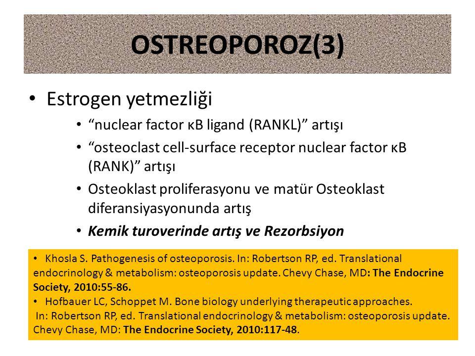OSTREOPOROZ(3) Estrogen yetmezliği