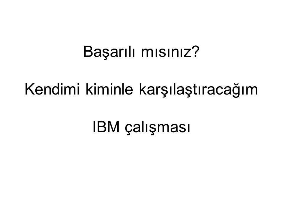 Başarılı mısınız Kendimi kiminle karşılaştıracağım IBM çalışması