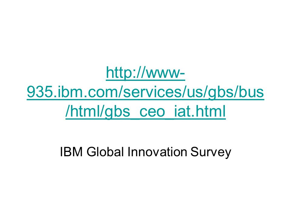 IBM Global Innovation Survey