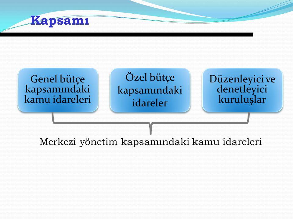 Kapsamı Genel bütçe kapsamındaki kamu idareleri