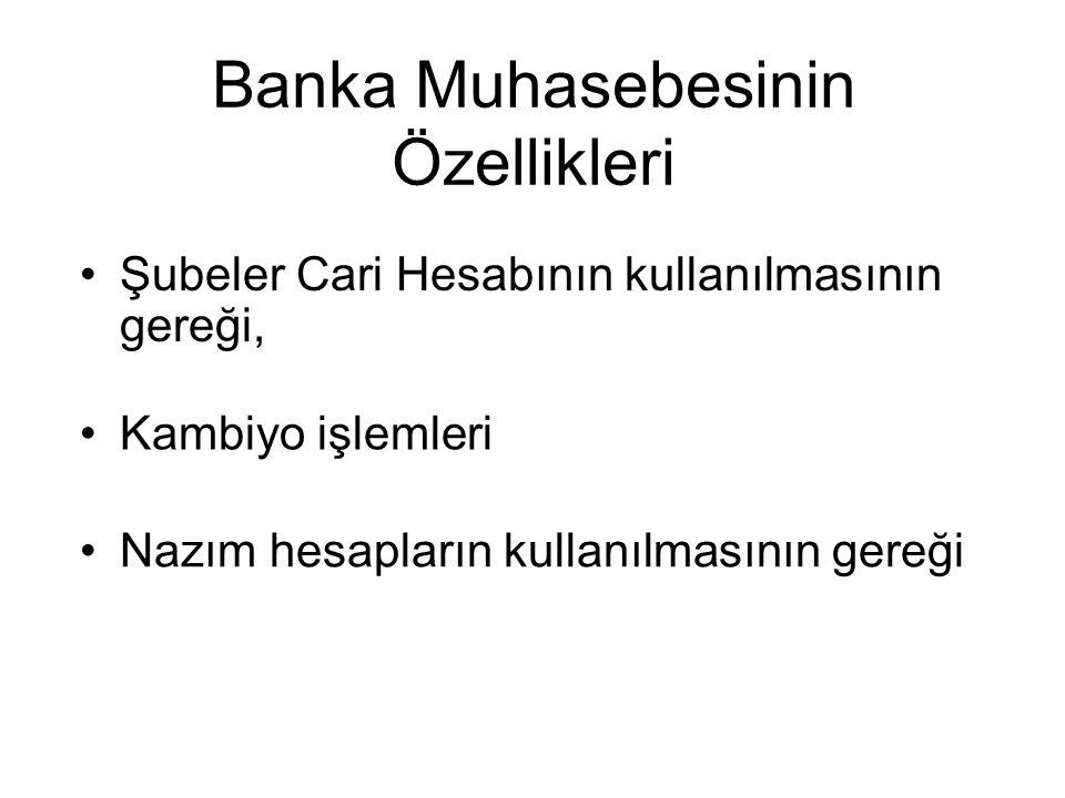 Banka Muhasebesinin Özellikleri