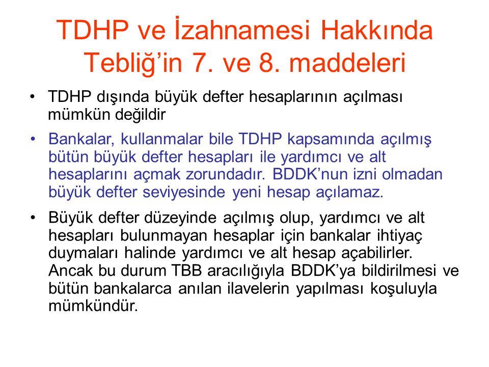 TDHP ve İzahnamesi Hakkında Tebliğ'in 7. ve 8. maddeleri