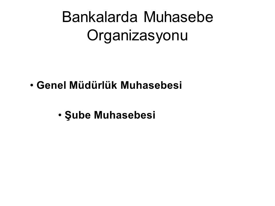 Bankalarda Muhasebe Organizasyonu