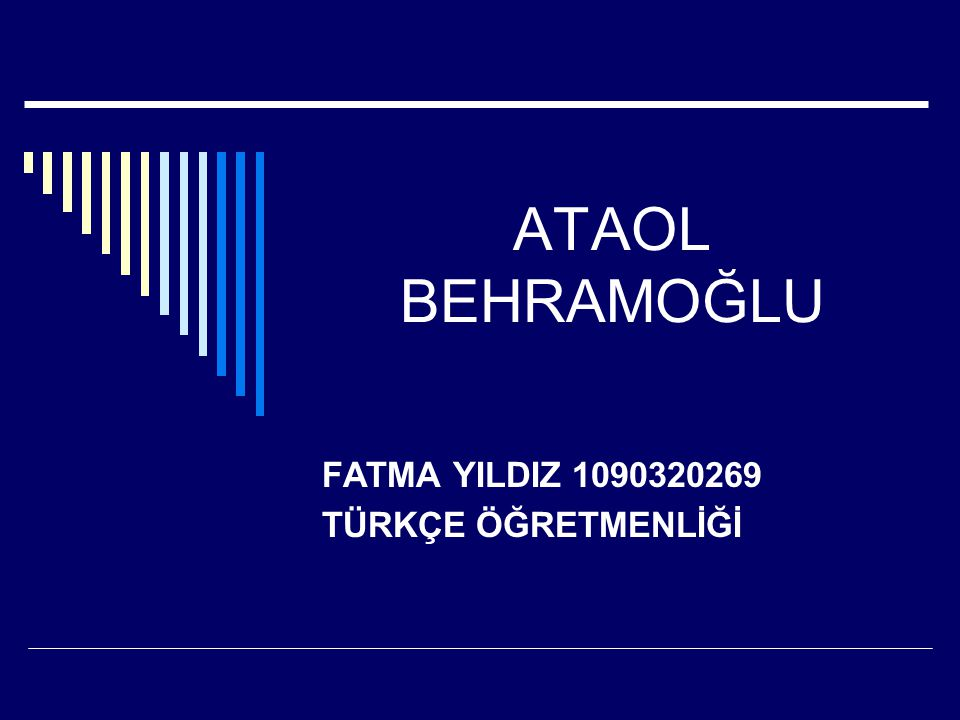 FATMA YILDIZ 1090320269 TÜRKÇE ÖĞRETMENLİĞİ