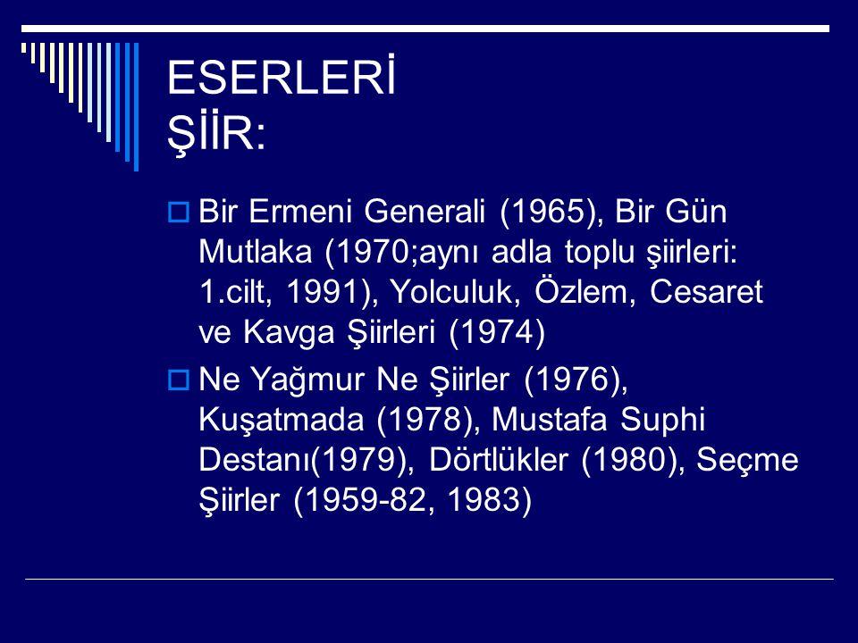ESERLERİ ŞİİR: