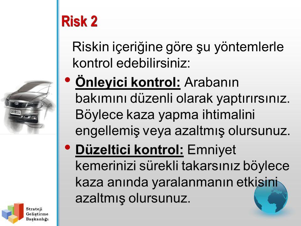 Risk 2 Riskin içeriğine göre şu yöntemlerle kontrol edebilirsiniz: