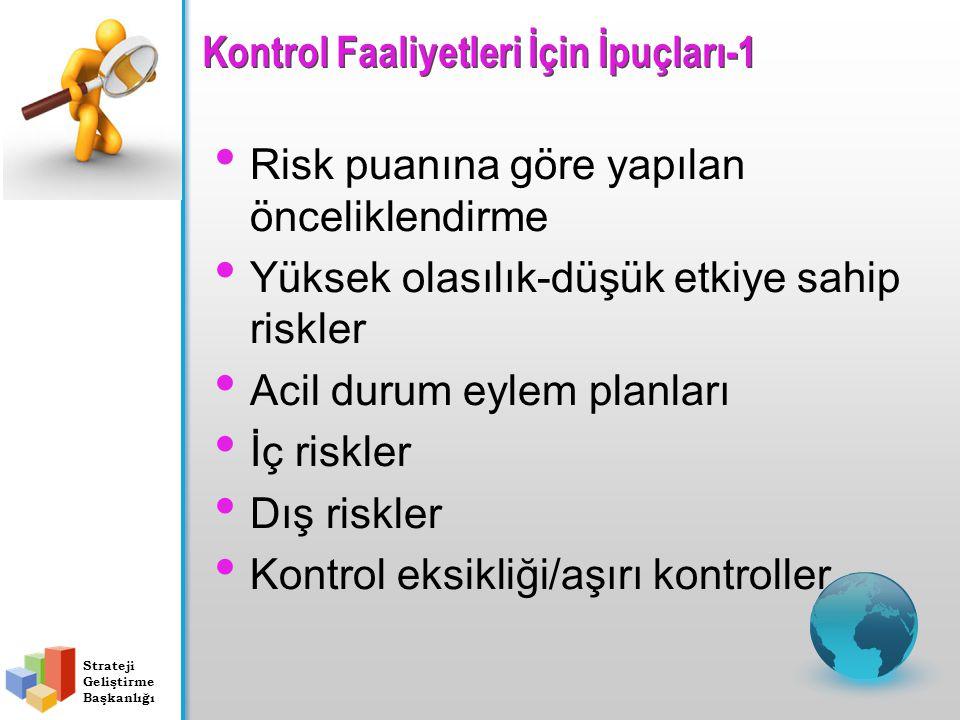 Kontrol Faaliyetleri İçin İpuçları-1