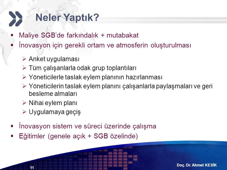Neler Yaptık Maliye SGB'de farkındalık + mutabakat