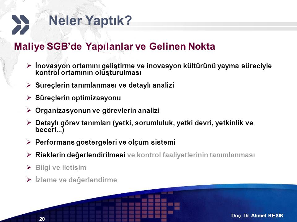 Neler Yaptık Maliye SGB'de Yapılanlar ve Gelinen Nokta