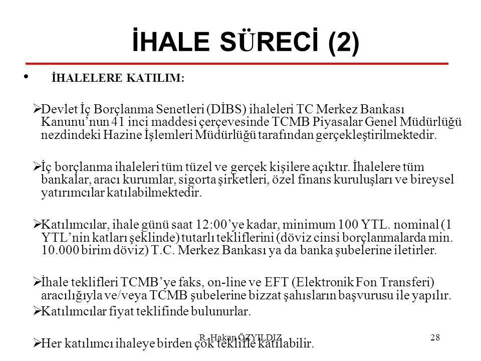 İHALE SÜRECİ (2) İHALELERE KATILIM: