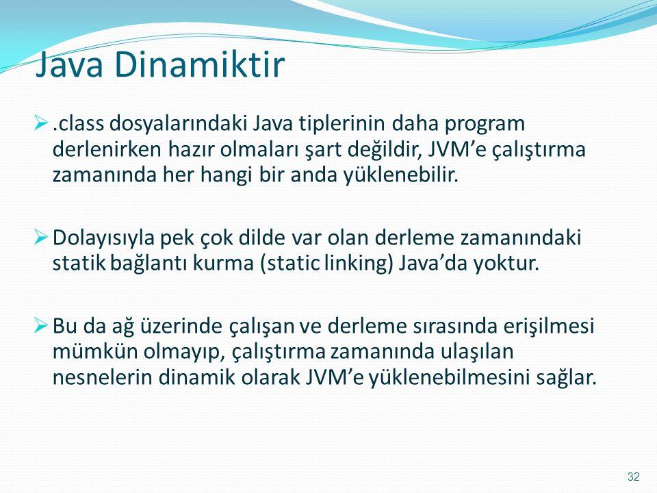 Java Dinamiktir