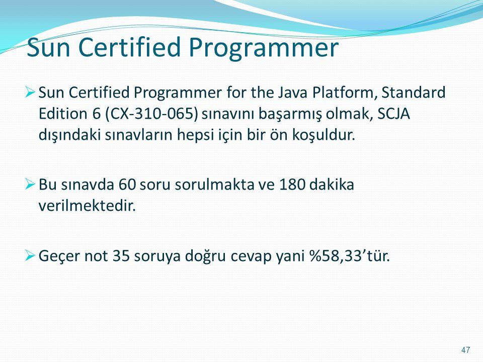 Sun Certified Programmer