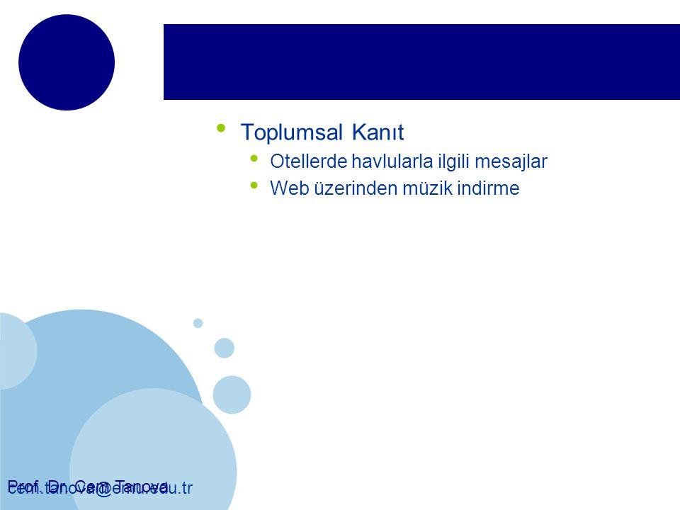 Toplumsal Kanıt Otellerde havlularla ilgili mesajlar