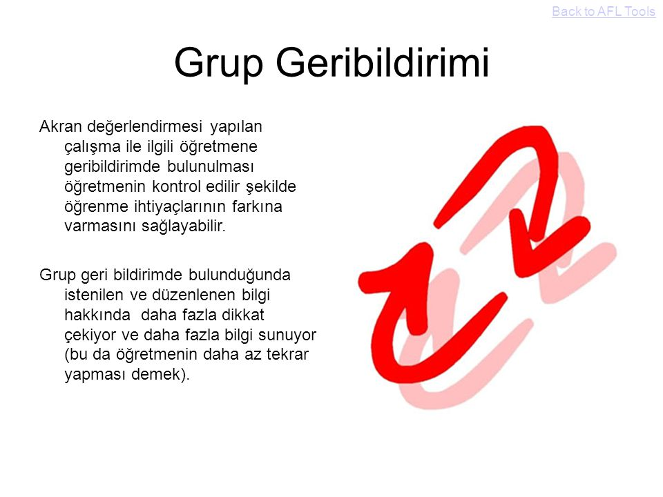 Back to AFL Tools Grup Geribildirimi.