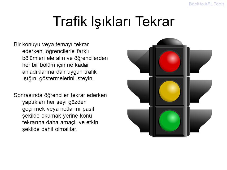 Trafik Işıkları Tekrar