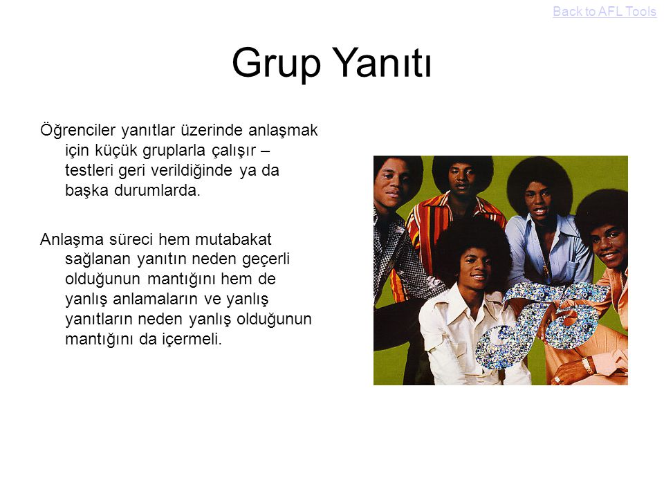 Back to AFL Tools Grup Yanıtı.