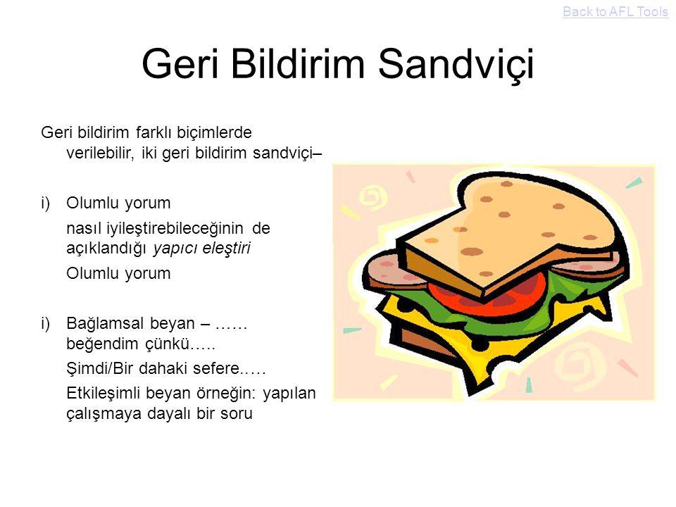 Geri Bildirim Sandviçi