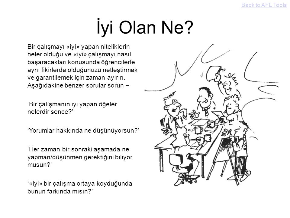 Back to AFL Tools İyi Olan Ne