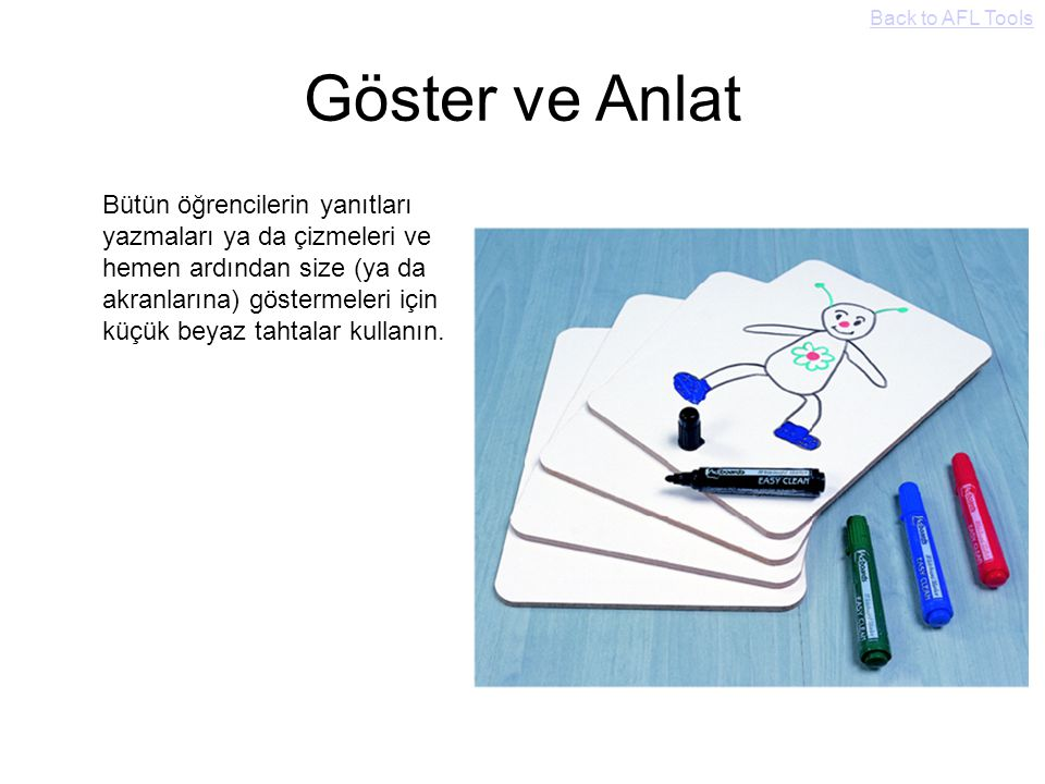 Back to AFL Tools Göster ve Anlat.