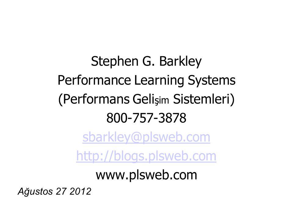 Performance Learning Systems (Performans Gelişim Sistemleri)